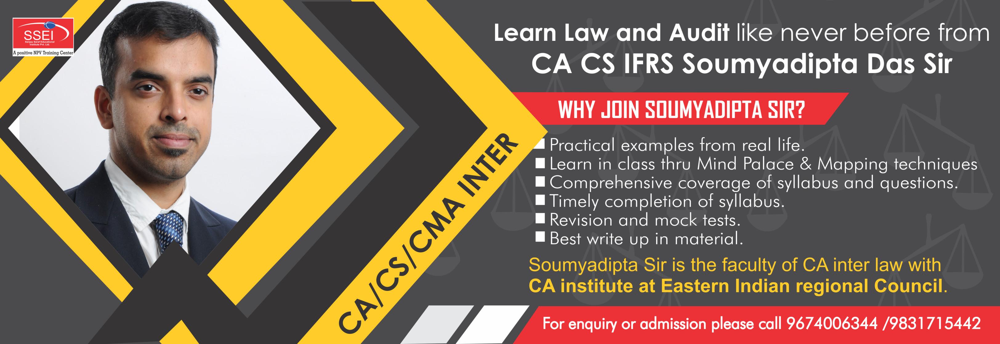 CA Coaching Institute   Sanjay Saraf Educational Institute SSEI